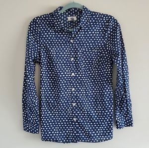 Old Navy Blue Dot Button Down